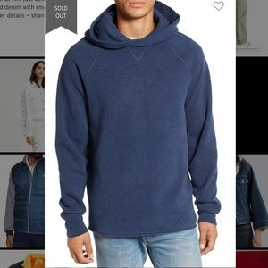 Levi's unhemmed hoodie made and crafted navy